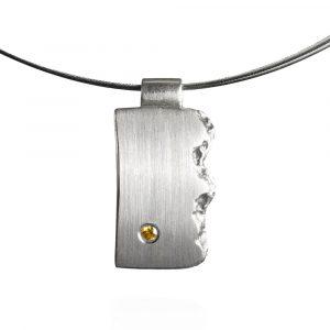 Das kleine KRA | Brodtener Steilufer Anhänger Silber mit Brillant groß