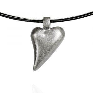 Das kleine KRA | Herz Anhänger geschwungen Silber