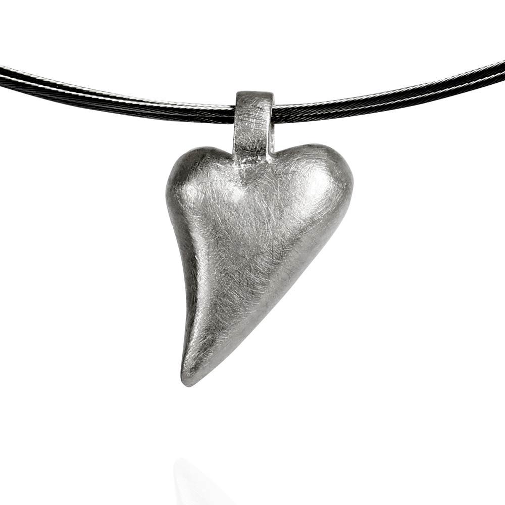 Das kleine KRA   Herz Anhänger geschwungen Silber