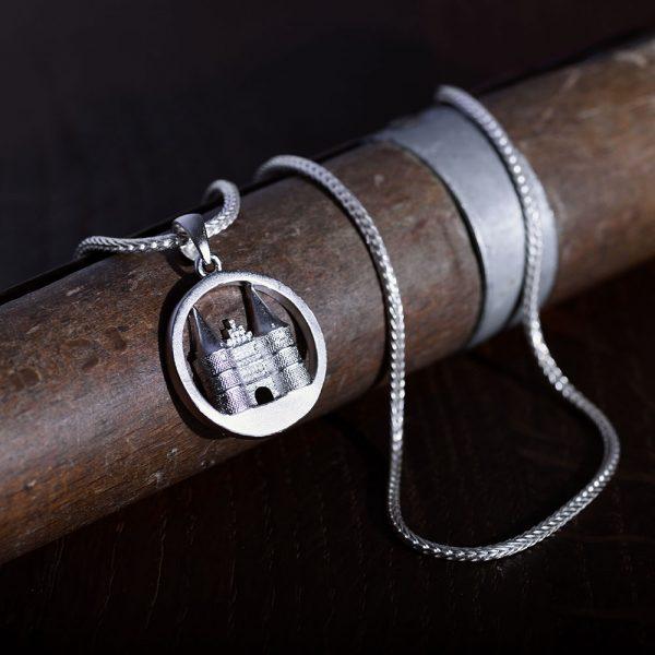Das kleine KRA | Holstentor Anhänger 3D Silber
