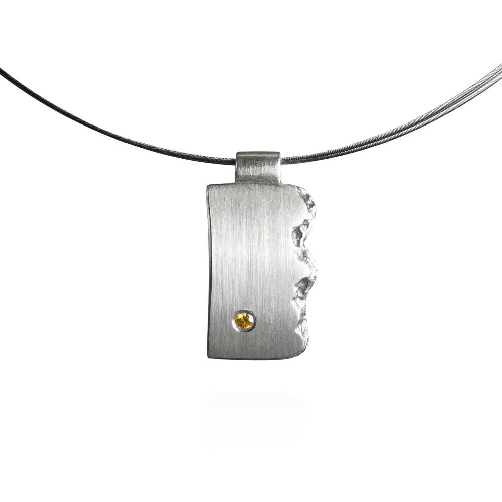 Das kleine KRA | Brodtener Steilufer Anhänger Silber mit Brillant klein