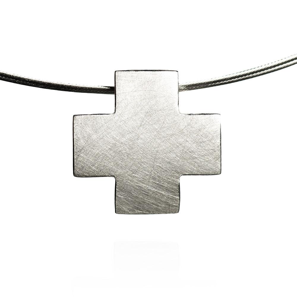 Das kleine KRA | Kreuz Anhänger Silber