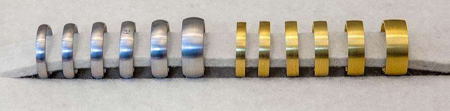 Das kleine KRA | Trauringe verschiedene Ringbreiten