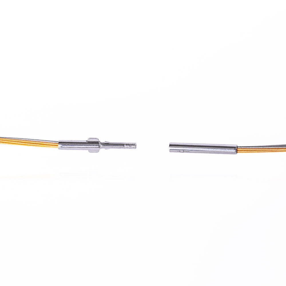 Das kleine KRA | Edelstahlcollier 8-reihig, bicolor - Verschluss offen