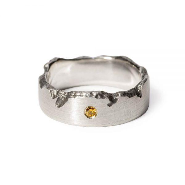 Das kleine KRA | Brodtener Steilufer Ring Silber mit Brillant