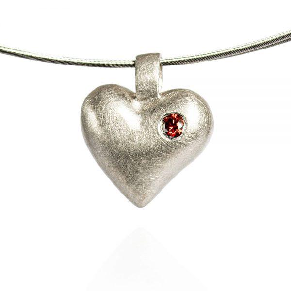 Das kleine KRA | Herz-Anhänger Silber mit Brillant